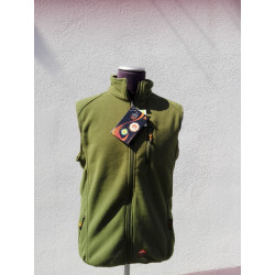 ALPENHEAT Heated Vest FIRE-FLEECE: bright green, without packaging