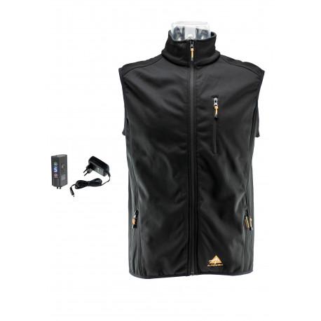 ALPENHEAT Oppvarmet soft-shell vest FIRE-SOFTWEST: uten emballasje