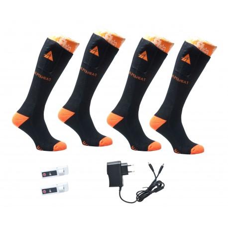 ALPENHEAT Heated Socks FIRE-SOCKS Cotton 2 Pairs